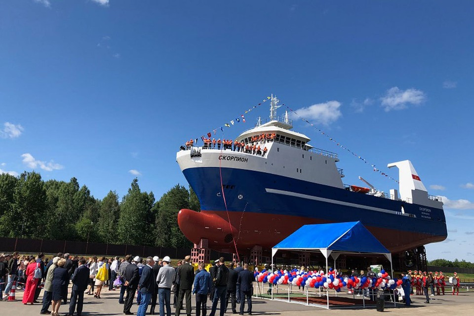 Торжественная церемония прошла на судостроительном заводе «Пелла» 10 июля в рамках III Международного рыбопромышленного форума.