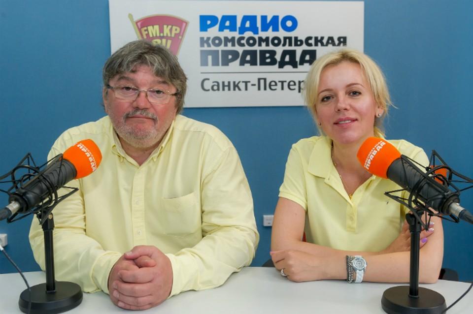 Андрей Константинов и Наталья Круглова в студии радио «Комсомольская Правда в Петербурге»