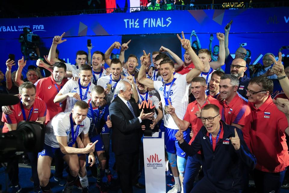 Россия выиграла второй год подряд Лигу Наций. Фото: EPA