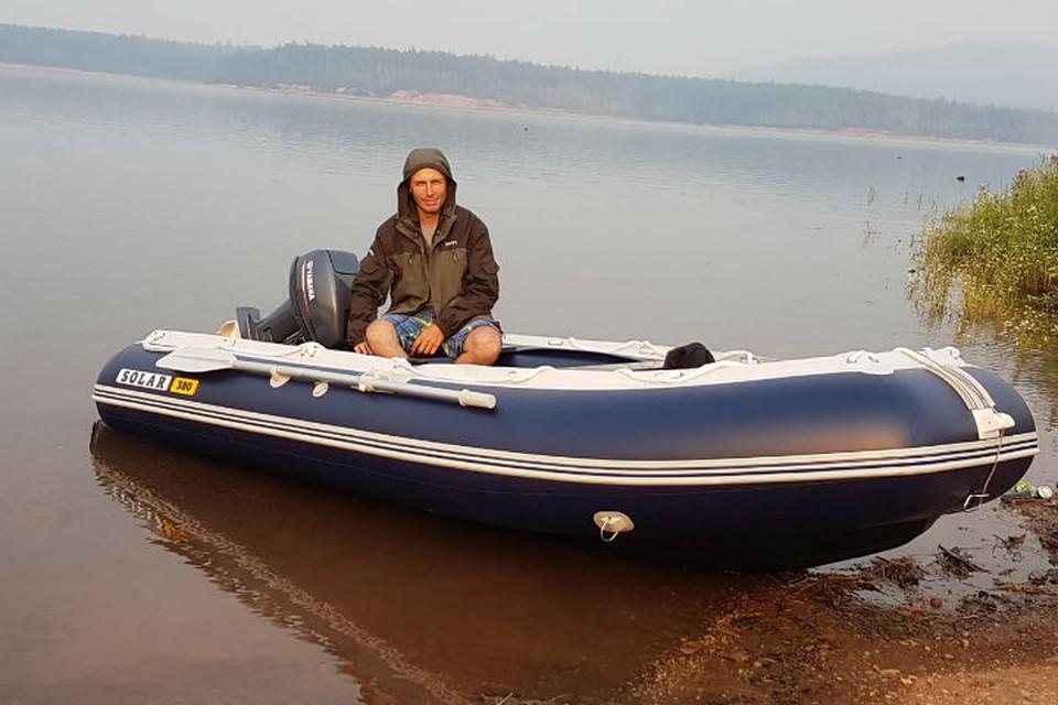 На этой лодке Кирилл Столяров спасал рыбаков. Фото: предоставлено Анной Столяровой