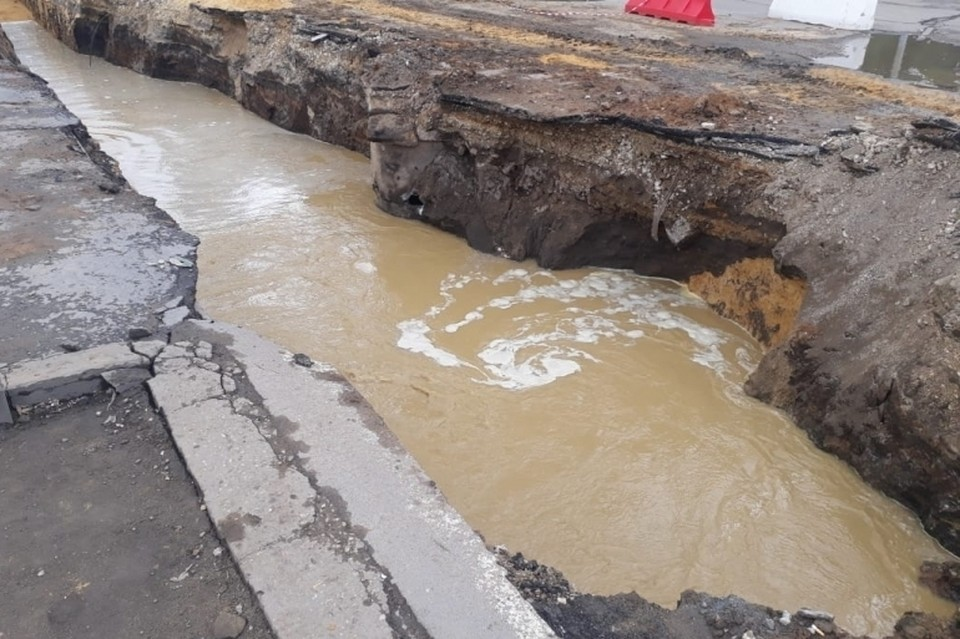 В Липецке аварийное отключение холодной воды