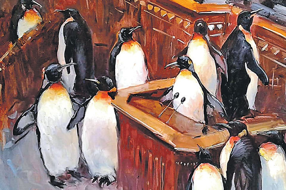 Судя по мебели, Верховная рада Украины. Судя по пингвинам... украинские депутаты. И ведь не возразишь. Фото: facebook.com