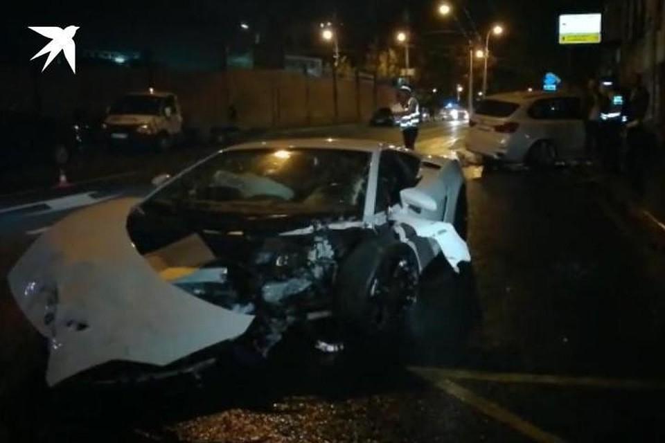 Последствия аварии на Большой Грузинской улице в Москве
