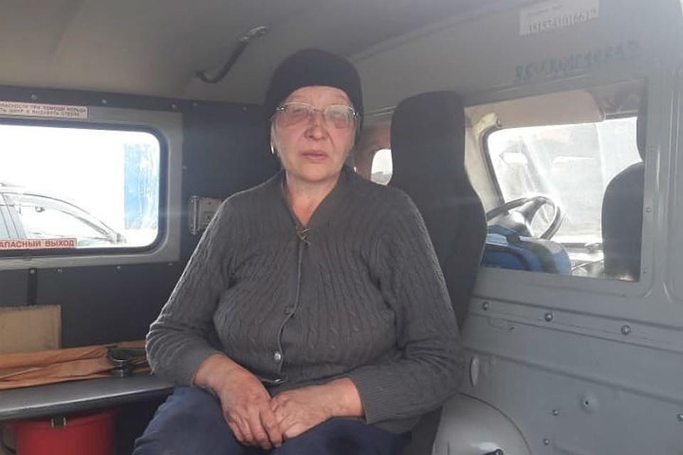 Валентина Ивановна Анисимова сразу после счастливого спасения.