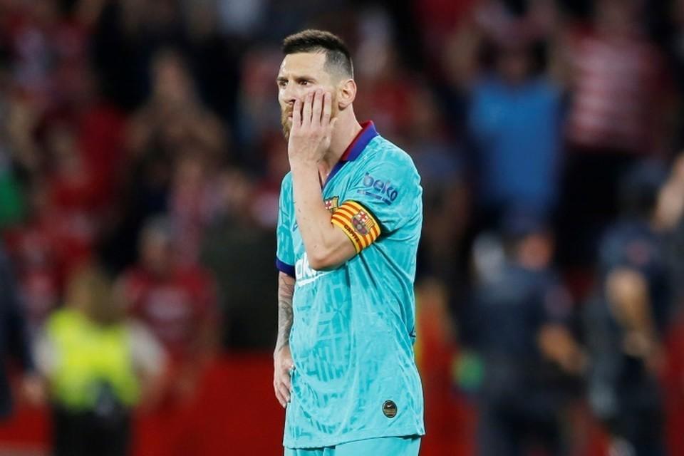 """Даже Месси не помог """"Барселоне"""" выиграть у """"Гранады""""."""