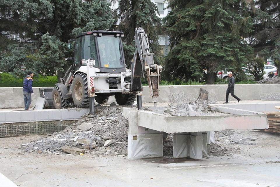 В Нижнем Новгороде снесли фонтан у концертного зала «Юпитер»