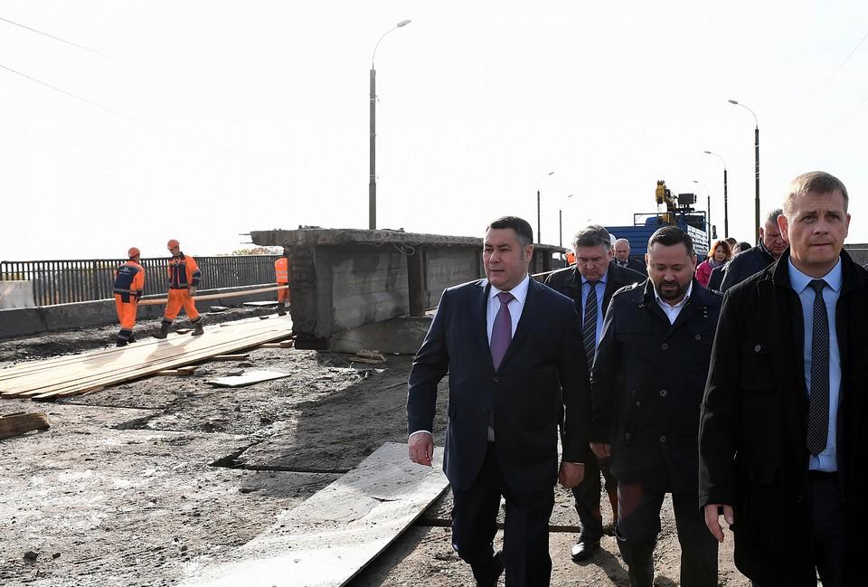 Губернатор Игорь Руденя оценил качество ремонта дорог в Твери Фото: пресс-служба правительства Тверской области
