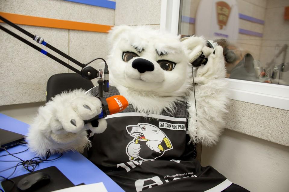 Белый медведь считается одним из лучших талисманов КХЛ.