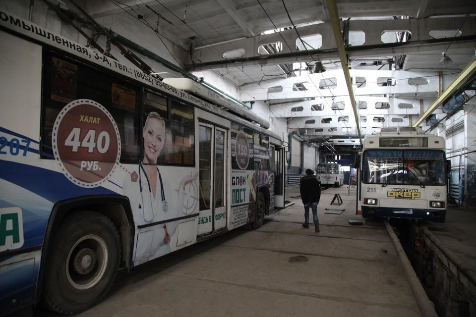 Троллейбусы в парке