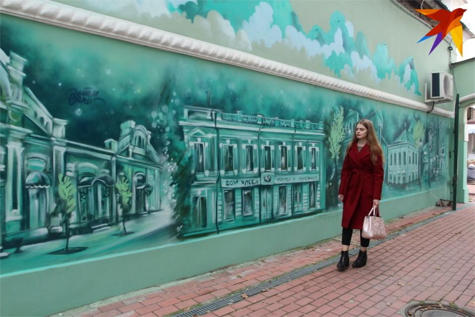 Рисунок расположился на торцевой стене дома №17.