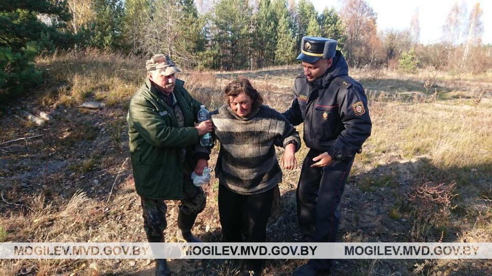 Женщина пробыла в лесу 5 дней. Фото: УВД Могилевского облисполкома.