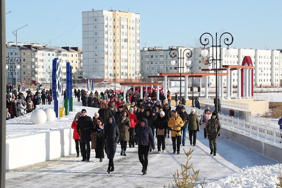 В Надыме торжественно открыли часть обновленной набережной Фото: nadymregion.ru