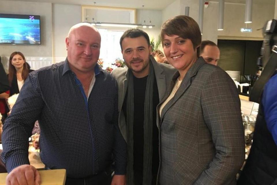 Александра Синяк, Эмин (в центре) и Евгений Гершевич