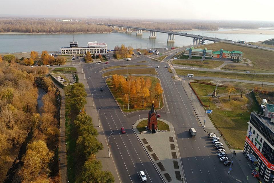 Отремонтированный проспект Ленина (пл.Баварина)