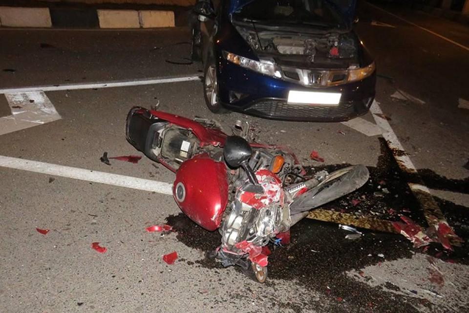 Очевидцев аварии, в которой погиб мотоциклист, ищут в Минске. Фото: Следственный комитет.