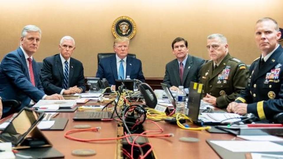 В Сети появились фото Трампа, наблюдающего за ликвидацией аль-Багдади Фото: White House
