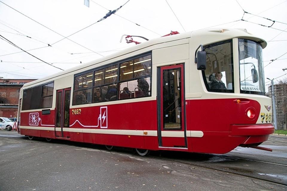 Водлродный трамвай вышел на первые полноценные испытания. Фото: Горэлектротранс СПб