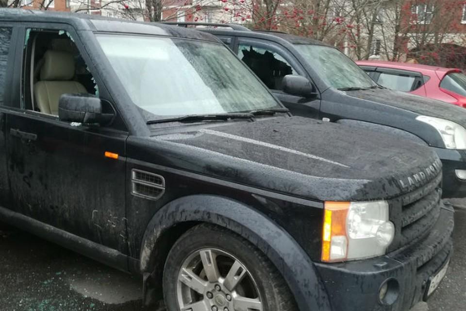 Возле парка 300-летия Петербурга неизвестные выбили стекла в трех припаркованных машинах