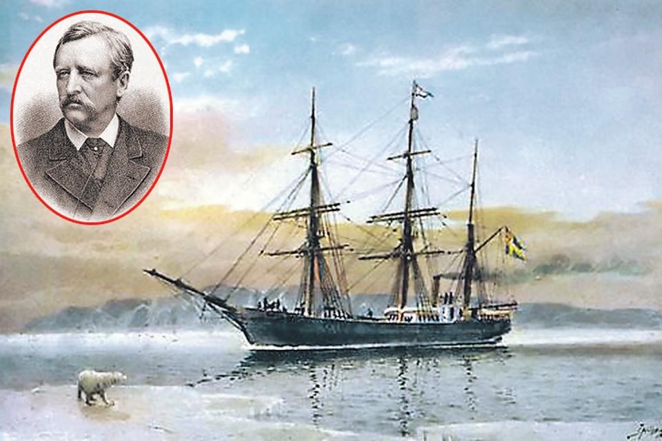 Адольф Норденшельд и его знаменитая «Вега». Фото: ru.wikipedia.org