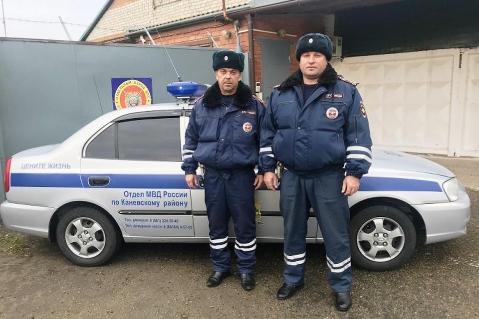 На фото Александр Жмыхов (слева) и Александр Силин. Фото: ГУ МВД по Краснодарскому краю.