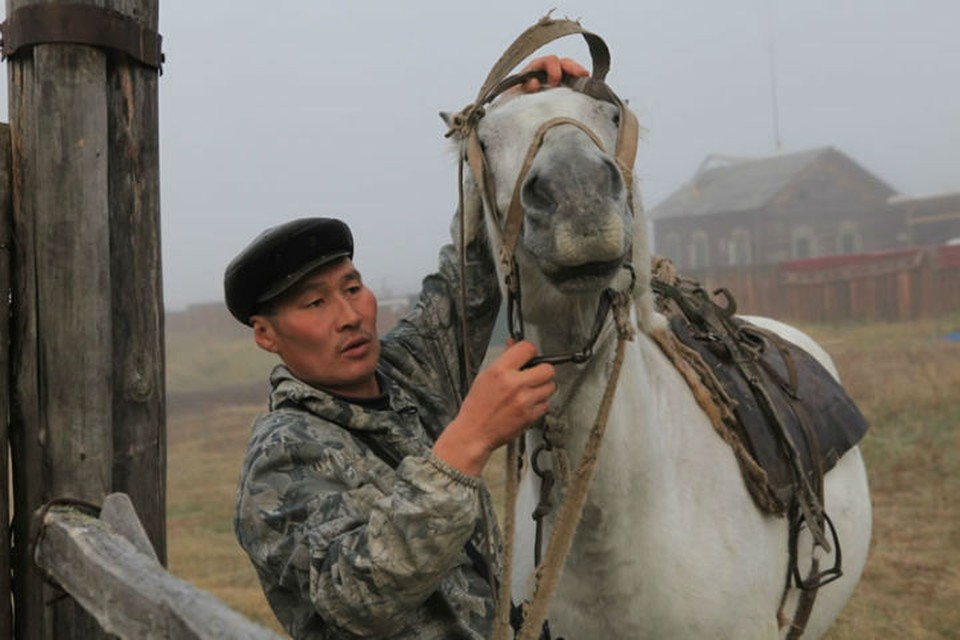 «Только мы с конем по полю идем»: сибиряк на лошади доставляет почту в таежные деревни. Фото: Борис СЛЕПНЕВ.
