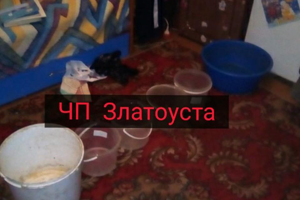 Ведра возле детской кровати. Фото: vk.com/chp_dtp