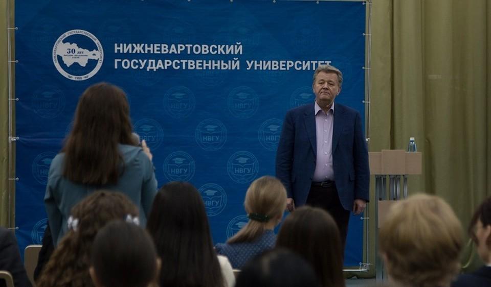 Глава Нижневартовска обсудил со студентами вопросы изменения климата и перспективы города. Фото администрации Нижневартовска.