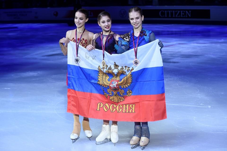 Три российские фигуристки, воспитанницы Этери Тутберидзе заняли весь пьедестал почета в Турине