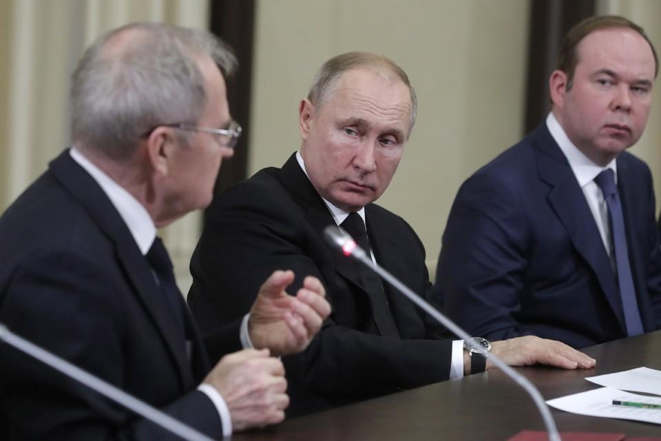 Президент России Владимир Путин провел встречу с судьями Конституционного суда РФ. Фото: Михаил Метцель/ТАСС