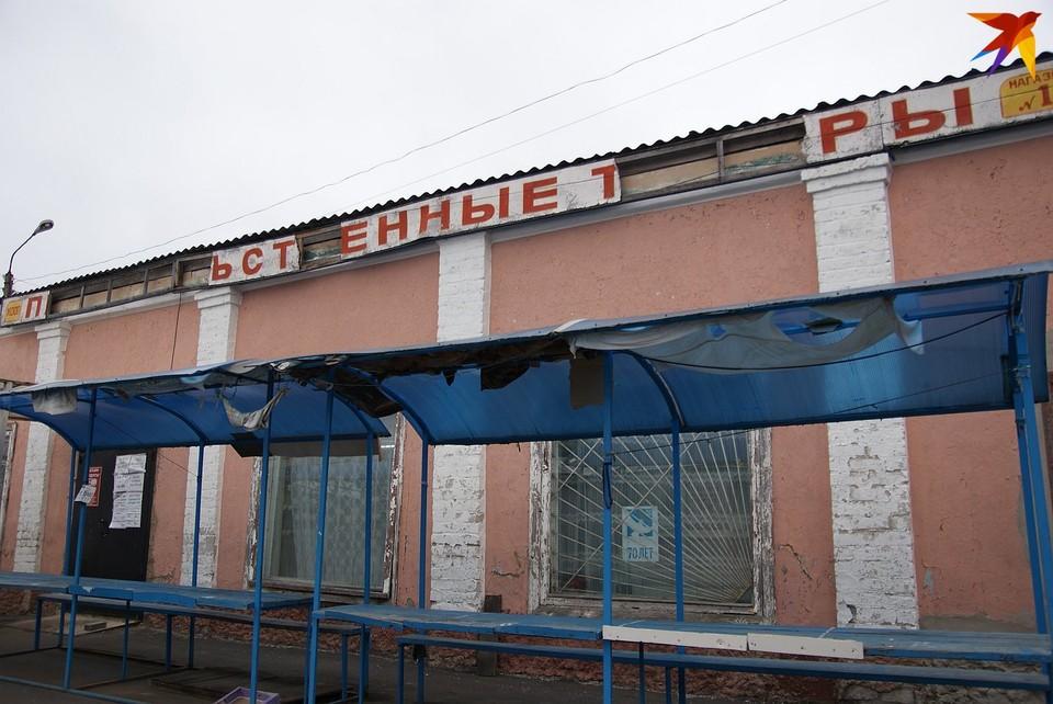 Рынок в Новозыбкове выглядит заброшенным