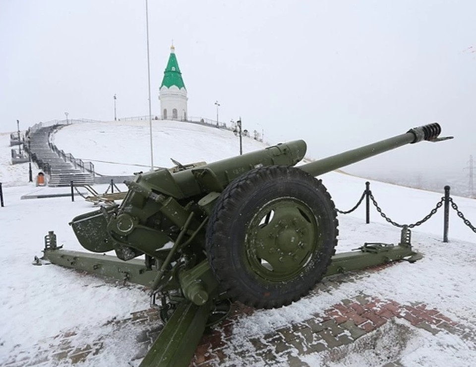 Пушку с Караульной горы в Красноярске отправили на ремонт.