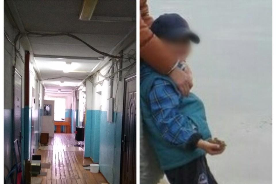 Ребенок сбежал от издевательств.