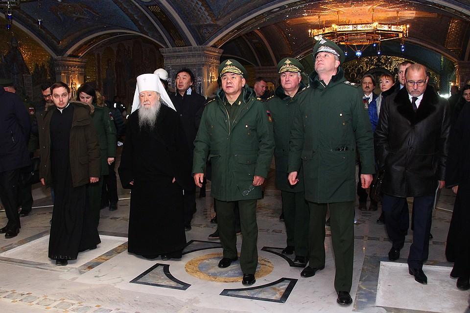 Сергей Шойгу посетил строительство Главного храма Вооруженных сил.