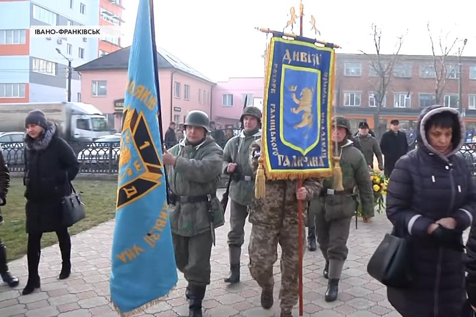 В Ивано-Франковске торжественно похоронили ветерана СС Михаила Мулика из дивизии СС «Галичина».