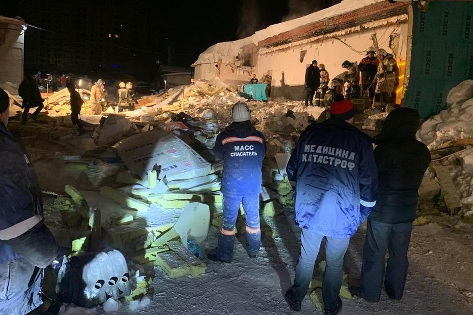 ЧП произошло ночью. Фото: ГУ МЧС России по Новосибирской области.