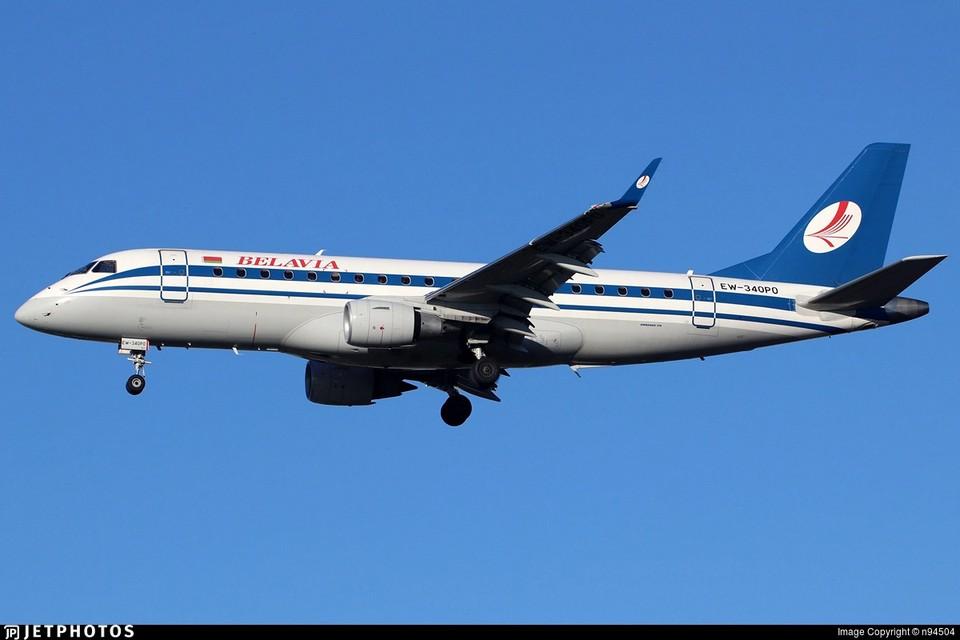 Тот самый самолет «Белавиа». который Лукашенко лично приказал вернуть.