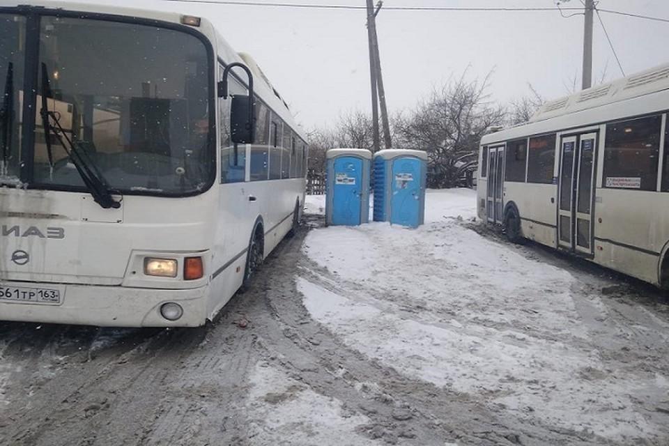 Туалеты на разворотной площадке все-таки есть, но водители ими не пользуются / Фото: СамараАвтоГаз