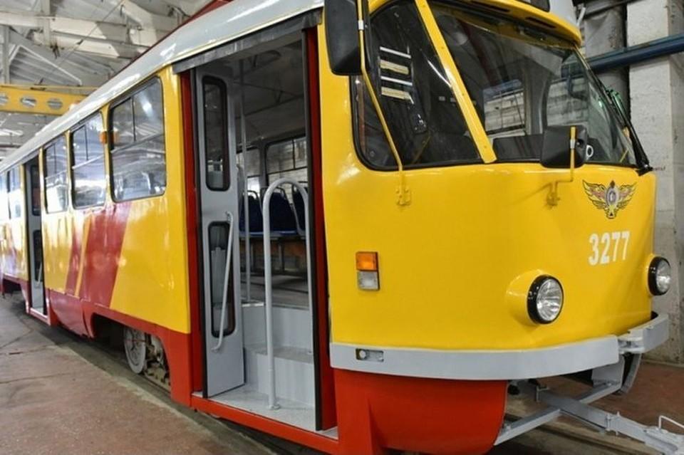 Отреставрированнный трамвай. Фото: «Толк»