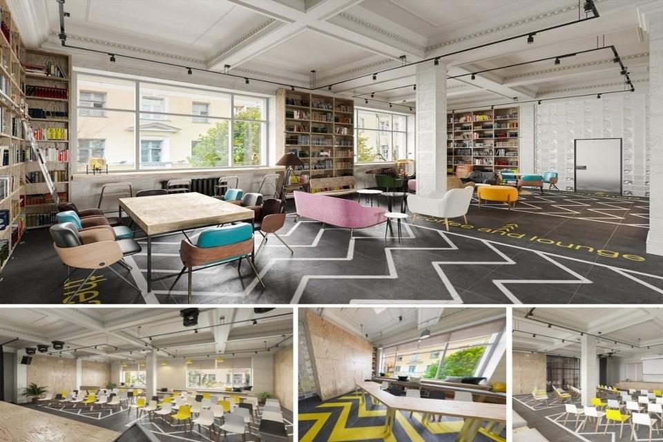 Дизайн-проект будущего креативного пространства центра «Рельсы». Фото: «Рельсы»