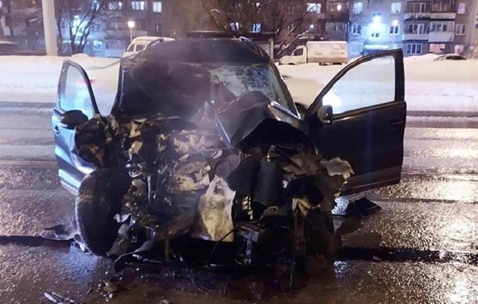 Никто из пассажиров автобуса не пострадал. Фото:ГИБДД по Перми