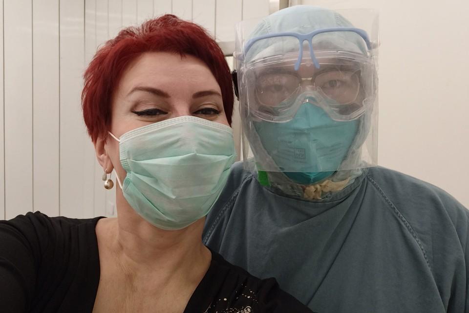 "Журналистка ""КП"" Дарья Асламова с китайским рентгенологом."