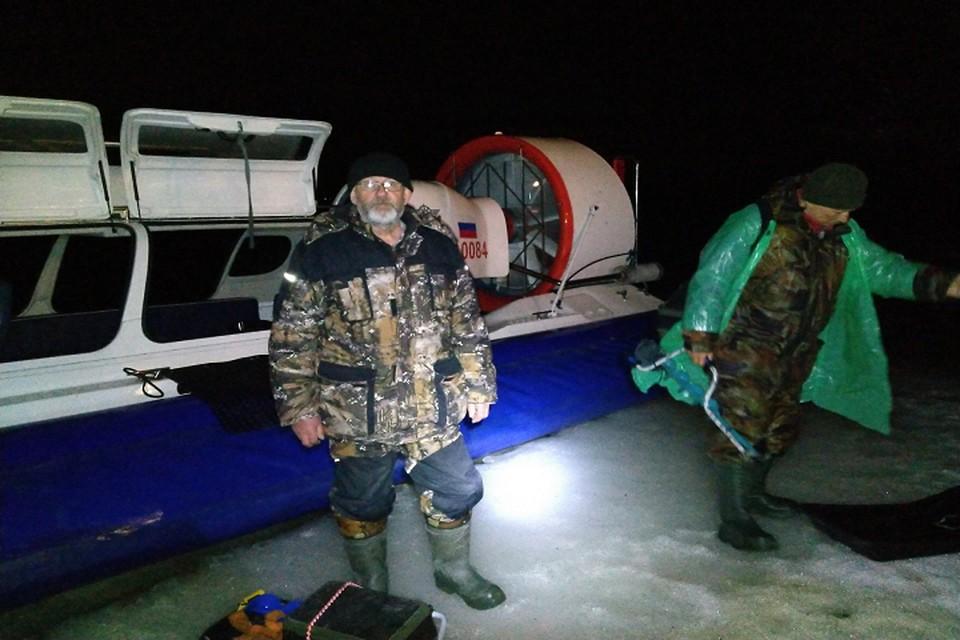 Рыбаков доставили на берег