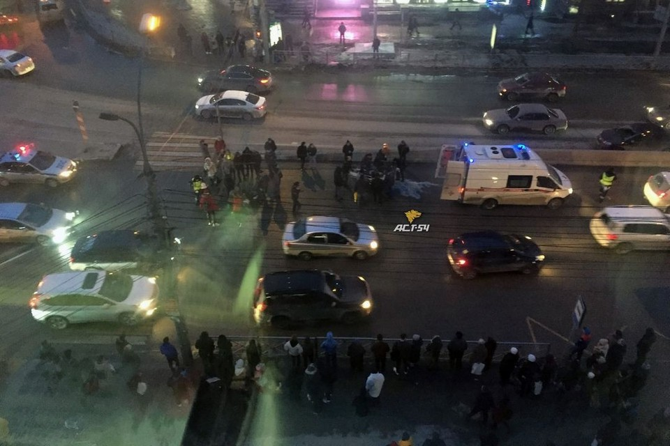 Авария произошла в центре Новосибирска.