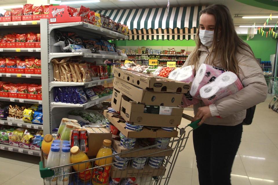 Во Владивостоке замечен ажиотаж на продукты питания и антисептики