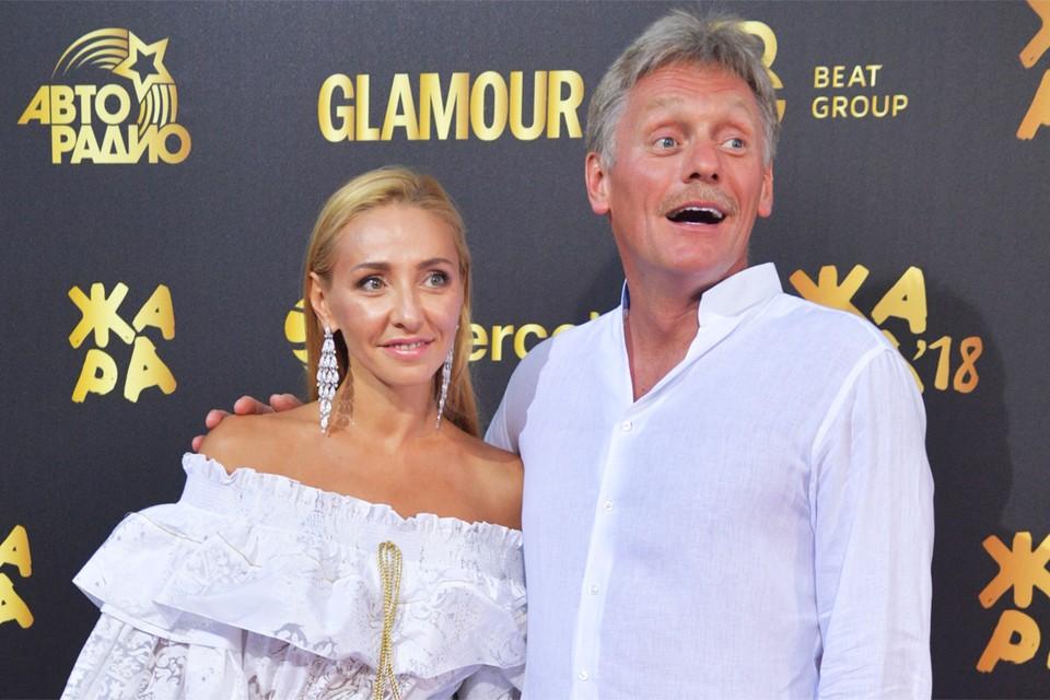 Татьяна Навка пришла на вечеринку Аллы Крутой вместе с мужем Дмитрием Песковым.