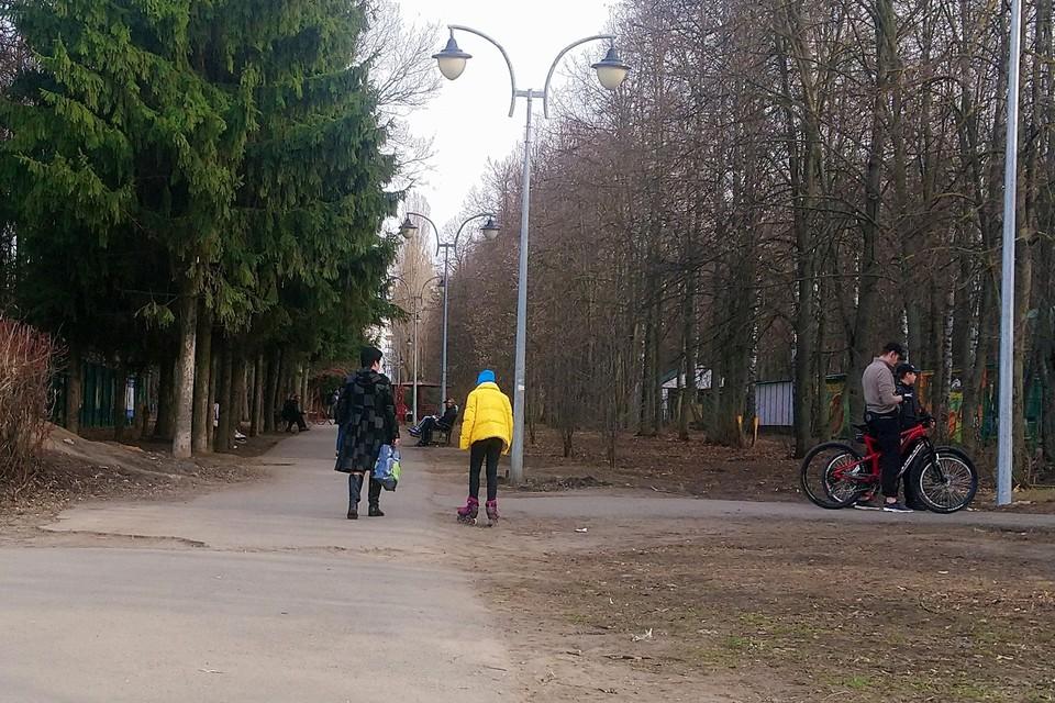 Липчане гуляют в парках во время карантина по коронавирусу