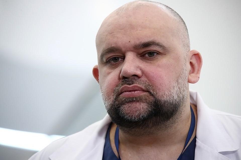 Главврач центра в Коммунарке Денис Проценко сообщил, что за сутки из больницы выписали 33 пациента. Фото: Валерий Шарифулин/ТАСС