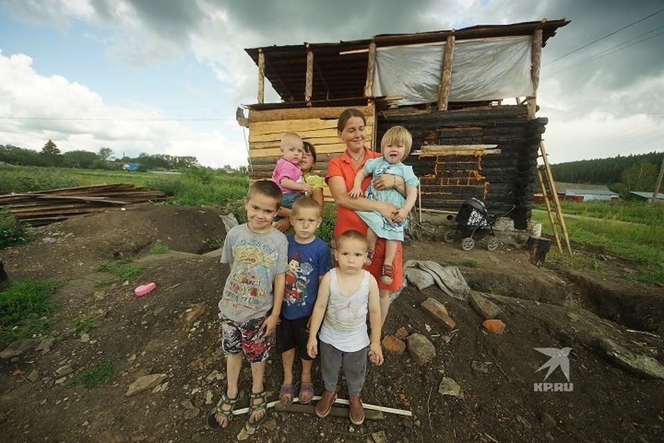 У Аринушкиных восемь детей. Трое из них сидят на на домашнем обучении.