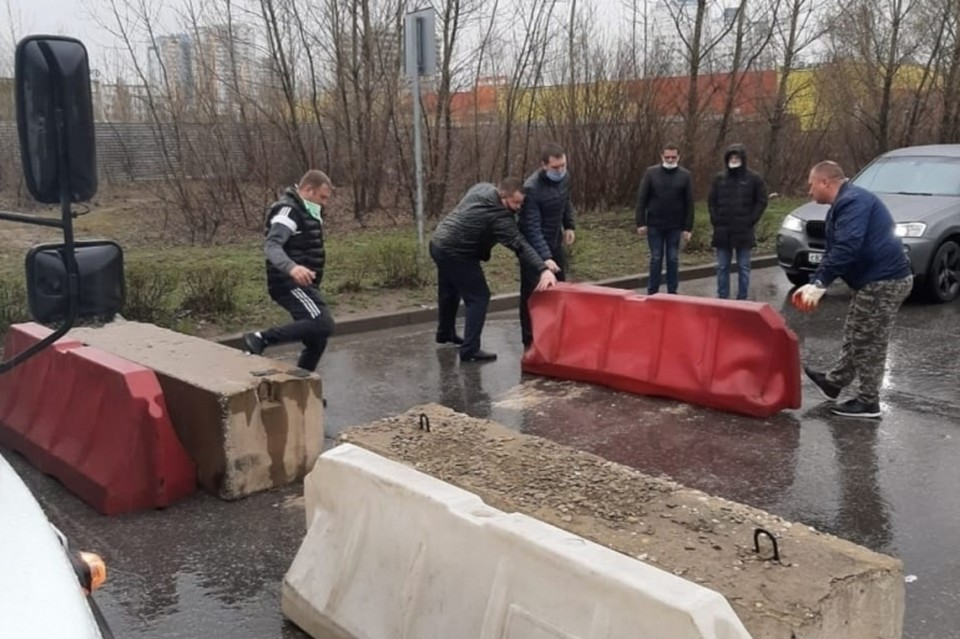 В Липецке перекрыли въезд на Набережную