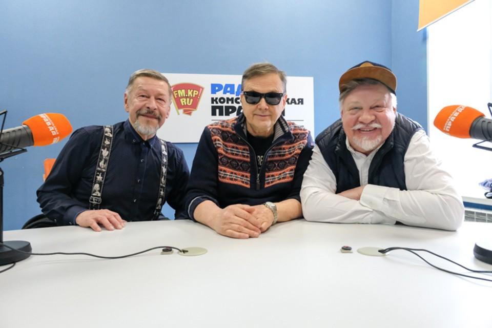 Александр Донских, Геннадий Барихновский и Александр Семенов в студии радио «Комсомольская Правда в Петербурге», 92.0 FM